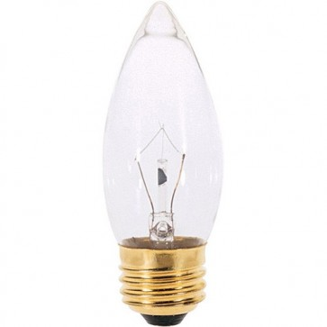 Satco S3731 25 watt B11 Incandescent Clear 1500 average rated hours 210 lumens Medium base 120 volts 2/Card