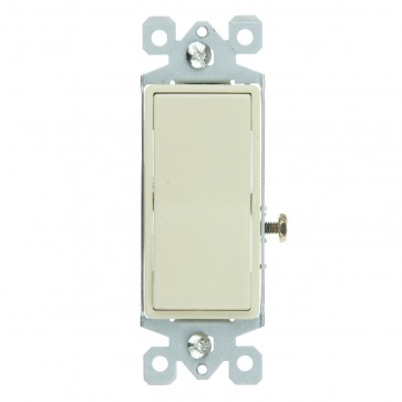 Sunlite 08055 E510/CD  On/Off Grounded Rocker Wall Switch, Ivory