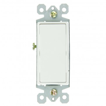 Sunlite 08130 E511  3 Way Grounded Rocker Wall Switch, White
