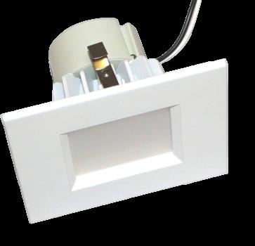 Goodlite 19785 R4/12W/SQ/LED/30k 4 Inch Square LED Retrofit 900 Lumens With Medium E26 Adapter, 3000K Warm White
