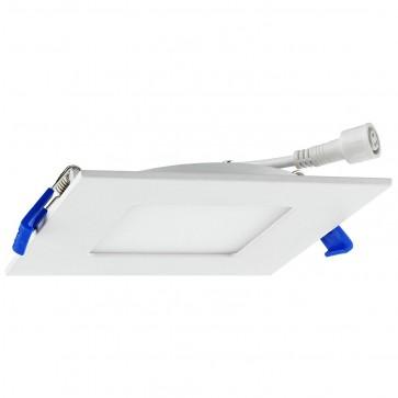 """Sunlite 87701 4"""" Square LED Slim Retrofit Fixture, 30K/40K/50K - Color Tunable, White Finish"""