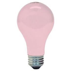 GE 97484 100 Watt A19 Pink Medium Base Light Bulb