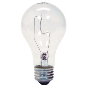 GE 97489 100 Watt A19 Clear 120 Volt Light Bulbs