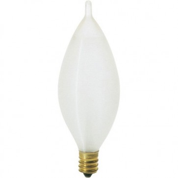 Satco S3405 60 watt C11 Incandescent Spun White 1500 average rated hours 606 lumens Candelabra base 120 volts