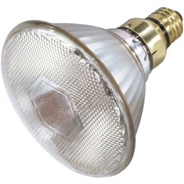 Satco S4897 70 watt Metal Halide HID Medium base PAR38 Clear 82 CRI 3000K