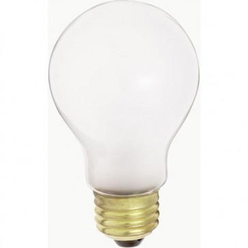 Satco S5022 75 watt A21 Incandescent Frost 1500 average rated hours 720 lumens Medium base 34 volts