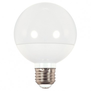 6 PK Satco S3278 25 watt CA8 Incandescent; Frost; 1500 average rated hours; 200 lumens; Candelabra base; 120 volts