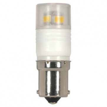 Satco  S9222 LED 2.3W BA15S 3000K  2.3 watt T3 Repl. LED 3000K Bayonet Single Contact Base 360' beam spread 12 volts