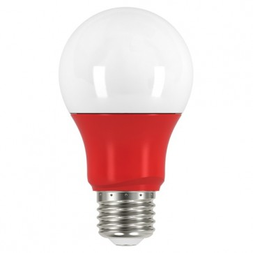 Satco S9642  2A19/LED/RED/120V  2 watt A19 LED Red when lit Medium base 120 volts