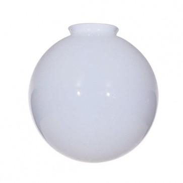 Satco 50-155  50-155  Blown Glossy Opal Ball Dia. 12'' Fitter: 4''