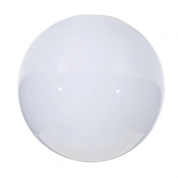 Satco 50-156  50-156  Blown Glossy Opal Neckless Ball Dia. 12'' Opening: 5 1/4''