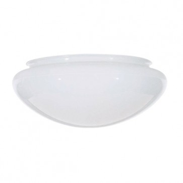 Satco 50-330  50-330  Sprayed Inside White Mushroom Glass Dia. 9 1/2'' Fitter: 7 7/8'' Ht. 4''