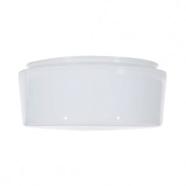 Satco 50-335  50-335  Sprayed Inside White Drum Glass Dia. 8 11/16'' Fitter: 7 7/8'' Ht. 4 ''