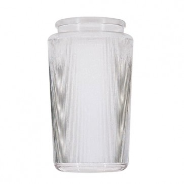Satco 50-725  50-725  Lexan® Prismatic Cylinders Dia. 3 3/4'' Fitter: 3 1/4'' Ht. 8 1/2''