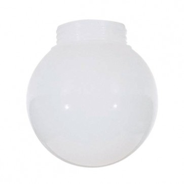Satco 50-727  50-727  Lexan® White Ball Dia. 6''Screw Fitter: 3 11/64''