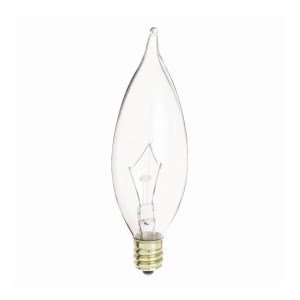 8 Bulbrite 460360 KR60CFC//32 60-Watt Dimmable Krypton Krystal Touch Flame Tip CA10 Chandelier Bulb Candelabra Base Clear