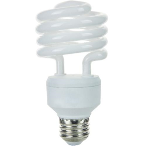 SUNLITE 00621 SMS23/50K 23 Watt Super Mini Spiral  Medium (E26) Base, Super White