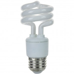 SUNLITE 00643 SMS11/65K 11 Watt Super Mini Spiral   Medium (E26) Base, Daylight