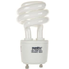 SUNLITE 00655 SL13/E/GU24/27K 13 Watt Sprial   GU24 Base, Warm White