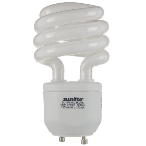 SUNLITE 00660 SL18/E/GU24/27K 18 Watt Sprial   GU24 Base, Warm White