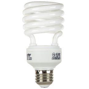 SUNLITE 00688 SMS23/41K 23 Watt Super Mini Spiral   Medium (E26) Base, Cool White