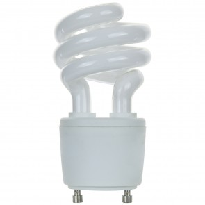 Sunlite 00789 SL13/GU24/50K 13 Watt GU24 Sprial Energy Saving Light Bulb, GU24 Base, Super White
