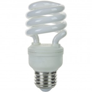 Sunlite 00806 SMS13/50K 13 Watt Super Mini Spiral Energy Saving Light Bulb, Medium Base, Super White
