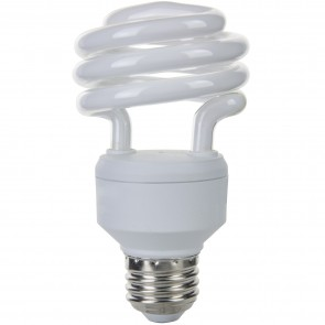 Sunlite 00811 SMS18/E/27K 18 Watt Super Mini Spiral Energy Saving Light Bulb, Medium Base, Warm White