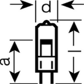 Osram 010717  10T3Q/CL-12V 10 Watt T3 Halogen, Bi-Pin (G4) Base