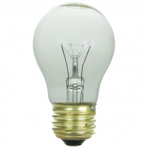 Sunlite 02035 15A15/CL 15 Watt A15 Appliance Light Bulb, Medium Base, Clear