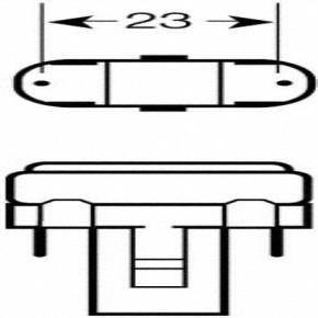 Osram 025735 CF7DS/830  7 Watt Compact Fluorescent Plug In, Warm White 830