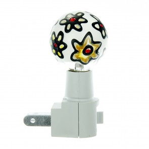 Sunlite 04091 E173 Colored Stained Glass Globe Decorative Night Light, Clear