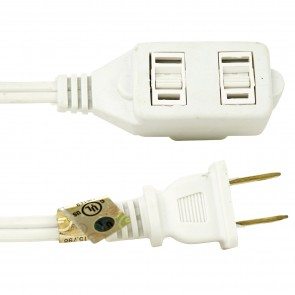 Sunlite 04100 EX6/WH  Houshold Extension Cord 6-Feet White
