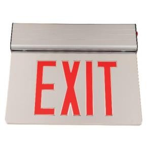 Sunlite 04333 EXIT/EDGE/SU/1RF/MI/WH/EM FIX SUN  Exit Light, Red