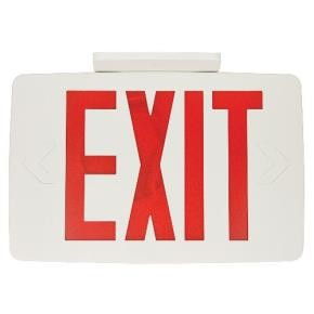 Sunlite 04339 EXIT/SU/1F/R/WH/EM LED Exit Light
