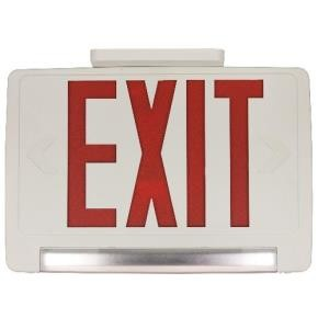 Sunlite 04342 EXIT/1/R/W/RC  LED Exit And Emergency Combo Fixture