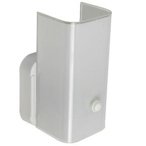 "Sunlite 04525 B7/WH 5"" Wall Mount Tower Style Bathroom Fixtures, White Finish, White Glass"