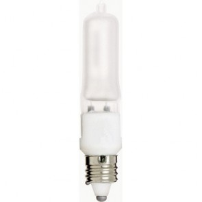 Satco S1914 50 watt Halogen T4 Frosted 2000 Average rated Hours 675 Lumens Mini Cand base 120 volts