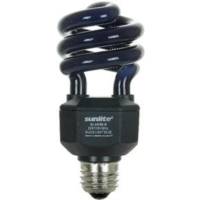Sunlite 05439 SL20/BLB 20 Watt Black Light Spiral Energy Saving Light Bulb, Medium Base, Black Light Blue