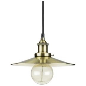 "Sunlite 07016 AQF/PD/CN10/AB/FLA 10"" Shallow Canopy Oil Rubbed Bronze Antique Style Pendant Fixture"