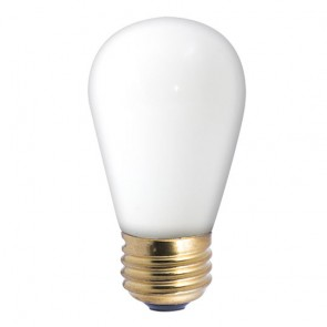 Bulbrite 701011 11S14W 11W Dimmable S14 String Light Replacement Bulb, Medium Base, White
