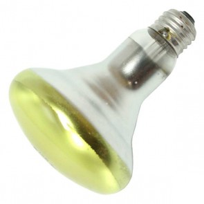 Sylvania 15154  65BR30YRP 120V 6/CS 1/SKU 65 Watt 120 Volt BR30 Colored Incandescent, Medium (E26) Base, Yellow 2850K