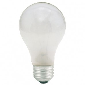Bulbrite 100025 25A 25Watt Incandescent A19 Medium Base Frost 2-Pack