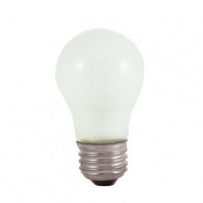 Bulbrite 104025 25A15F 25 Watt Incandescent A15 Fan Bulb, Medium Base, Frost