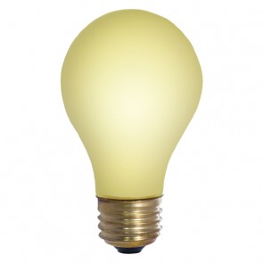 Bulbrite 103025 25A/YB 25 Watt Incandescent A19 Outdoor Bug Light, Medium Base, Yellow