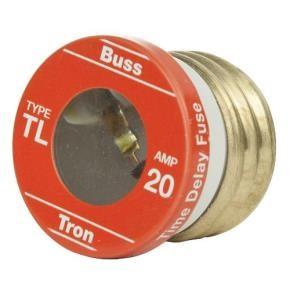 Sunlite 37225 TL20/4PK 20 AMP Edison Base Plug Fuse 4 Pack Cooper