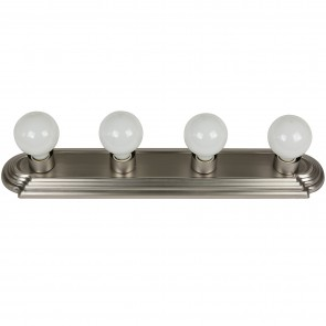 Sunlite 45100 B424/BN 4 Lamp Vanity Globe Style Fixture, Brushed Nickel Finish