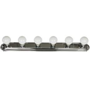 Sunlite 45225 B636/CH 6 Lamp Vanity Globe Style Fixtures, Chrome Finish