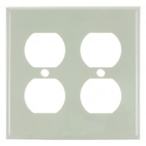 Sunlite 50613 E212/A 2 Gang Duplex Receptacle Plate, Almond