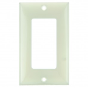 Sunlite 50702 E301/A 1 Gang Decorative Switch and Receptacle Plate, Almond